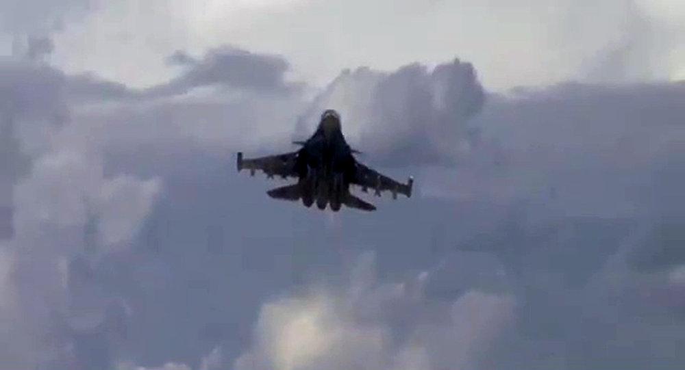 Боевые вылеты истребителей-бомбардировщиков Су-34