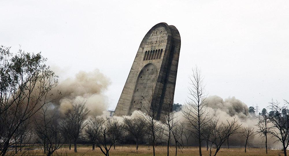 Взрыв Мемориала Славы в Кутаиси