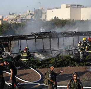 Взрыв автобуса в Иерусалиме