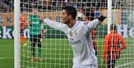 Футбол. Игрок Реала Криштиану Роналду радуется забитому мячу