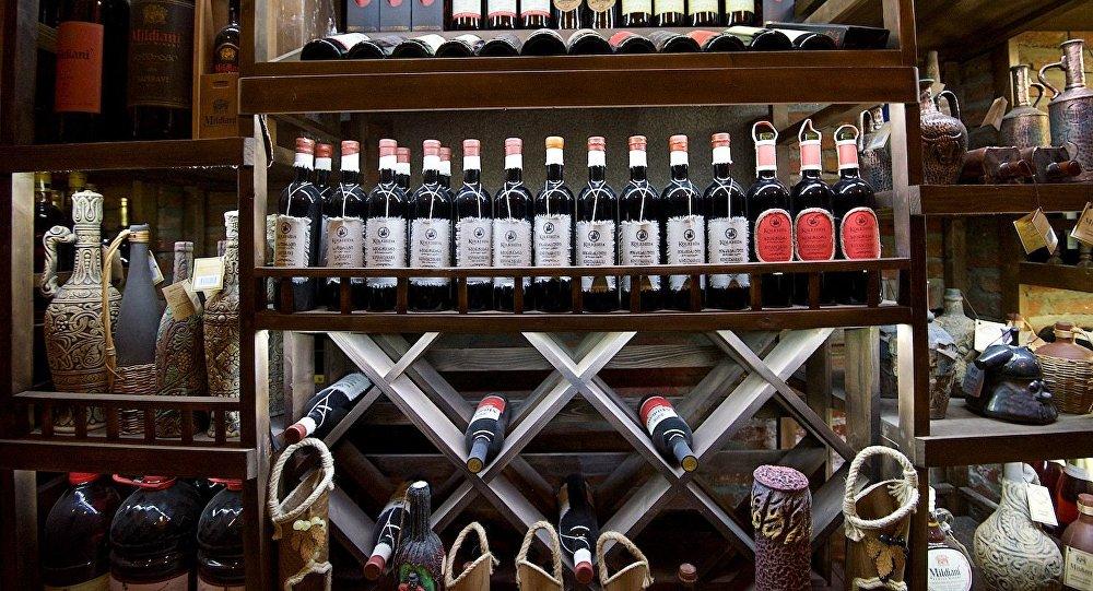 В одном из тбилисских винных магазинов