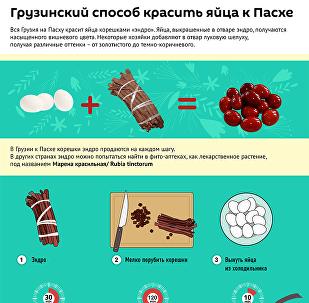 Грузинский способ красить яйца к Пасхе