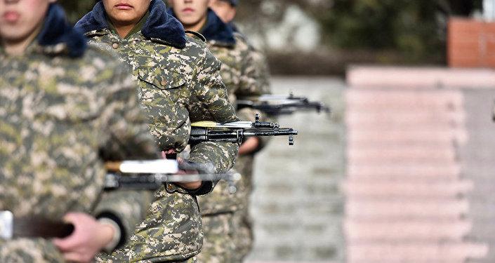 Солдаты Нацгвардии Кыргызстана. Архивное фото