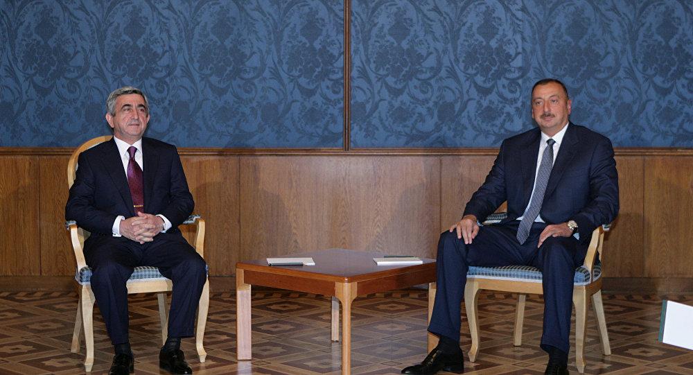 Встреча президентов Азербайджана и Армении в Москве