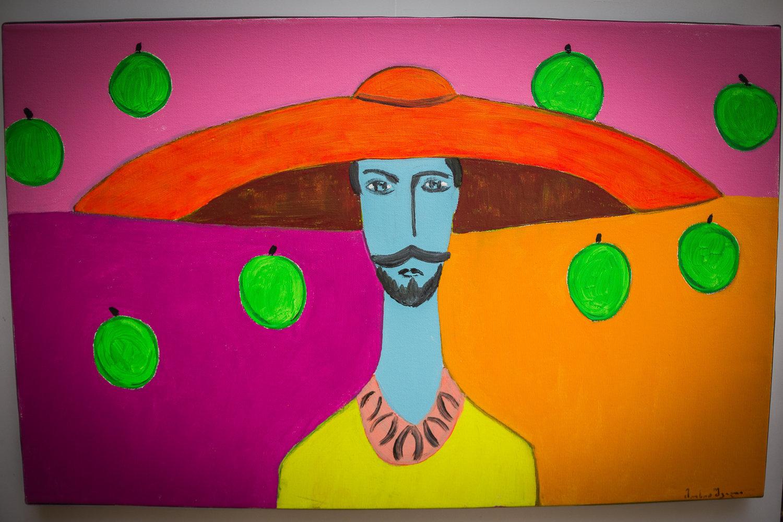 Мужчина с зелеными яблоками, Леван Мосиашвили