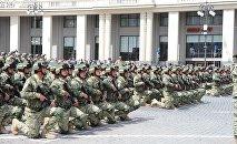 Грузинские солдаты дают клятву