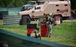 Военные машины участвовали в сражении любителей страйкбола в Тбилиси
