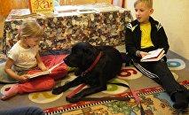 Дети читают книги домашним питомцам. Проект КниГАВ
