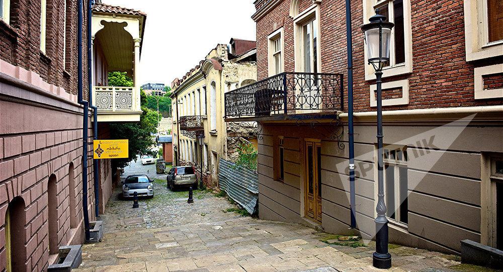 Старый Тбилиси - дома в историческом центре