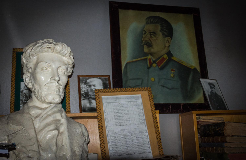 Бюст молодого Сталина в обсерватории