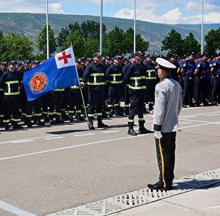 Полицейские машины, броневики и подразделения МВД - День полиции Грузии