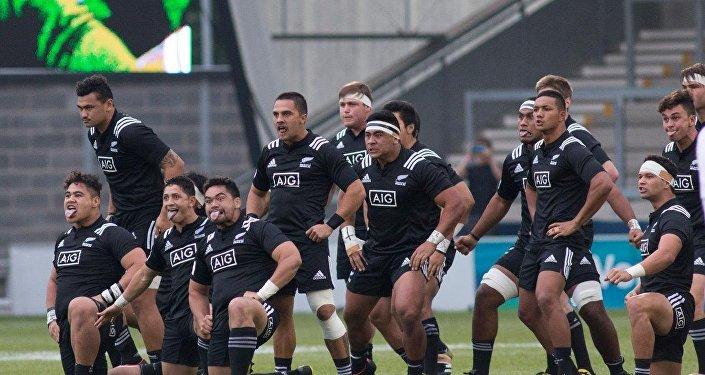 Регби. Молодежная сборная Новой Зеландии перед матчем с Грузией