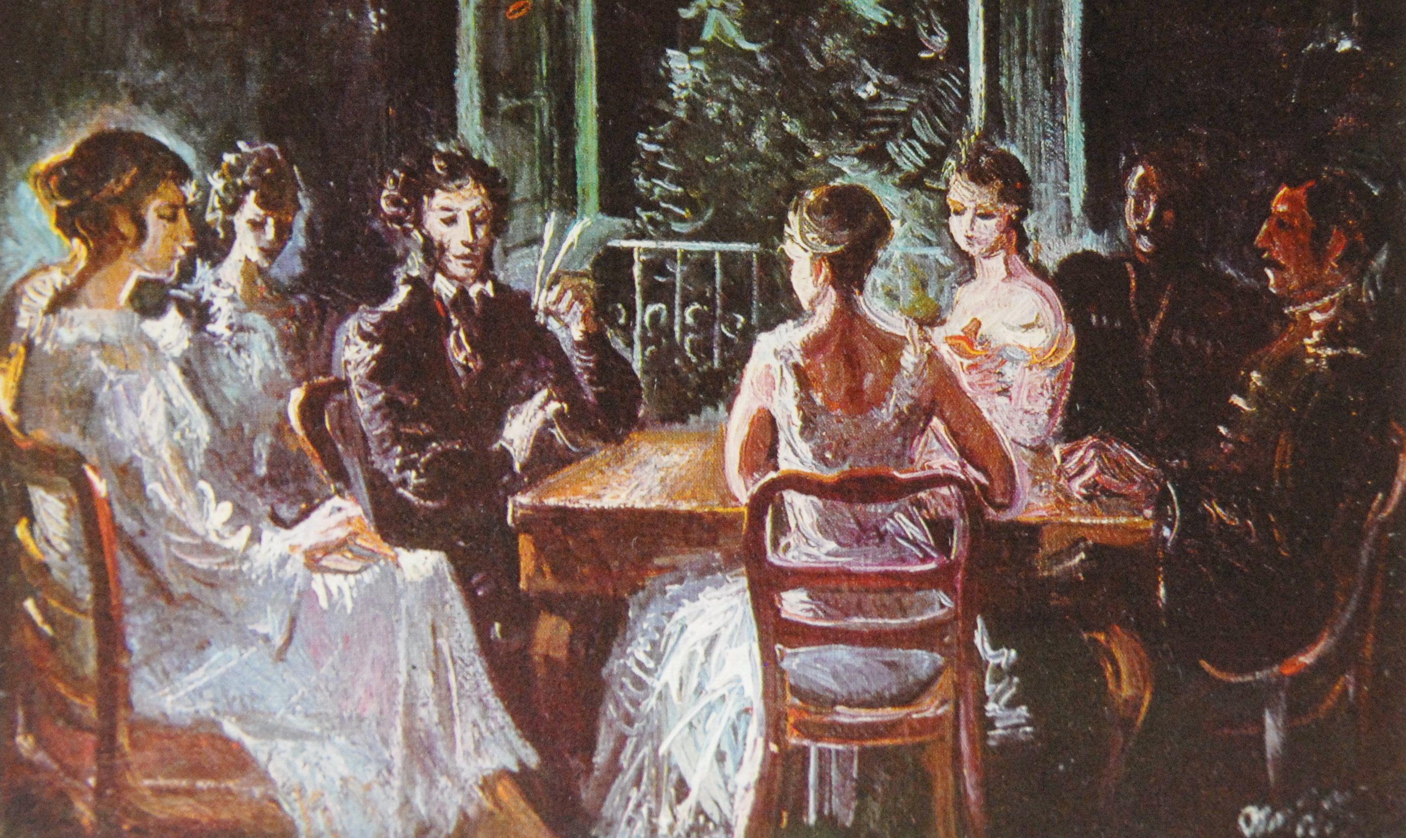 Картина «Пушкин в гостях у Чавчавадзе». Автор – А.Томашвили.