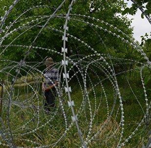 Колючая проволока, граница с Цхинвальским регионом