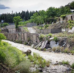 Наводнение в грузинской столице - улица Сванидзе