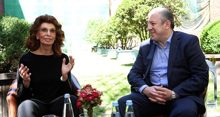 Софи Лорен и Георгий Квирикашвили