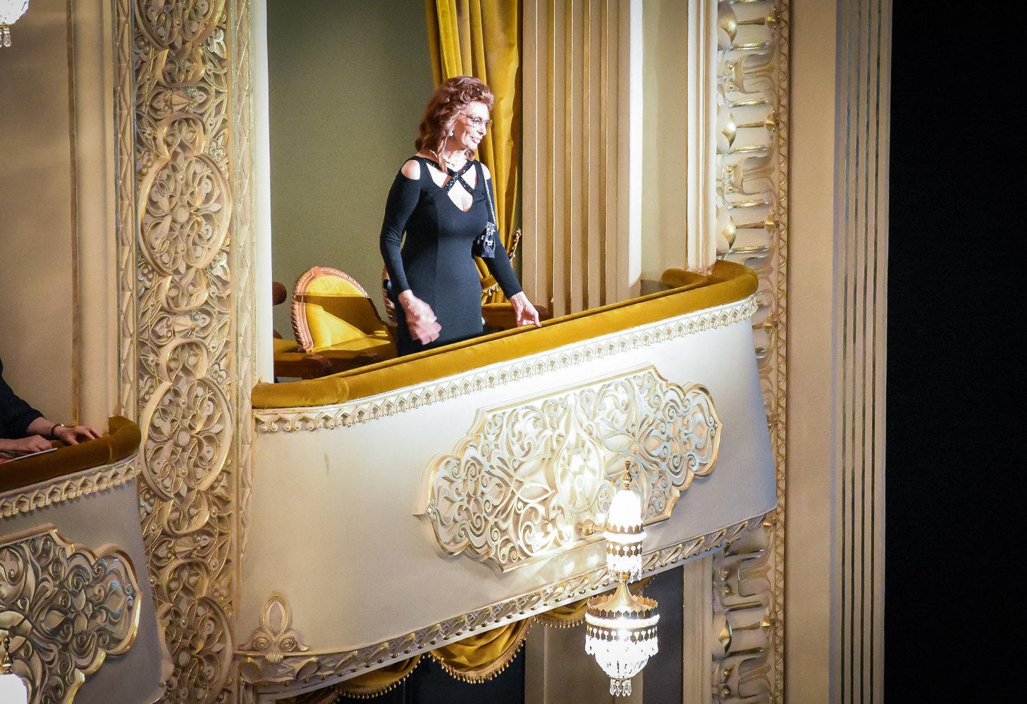 Софи Лорен в Тбилисском театре оперы и балета