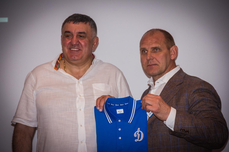 Александр Карелин на презентации фильма Чемпионы в Тбилиси