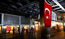 Saldırının meydana geldiği noktaya Türk bayrağı asıldı.