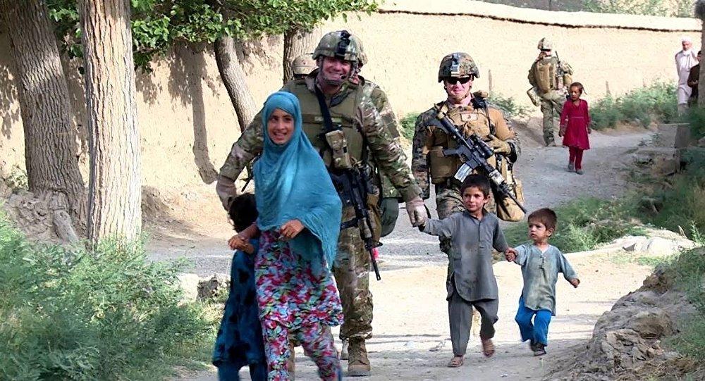 Грузинские военные в Афганистане