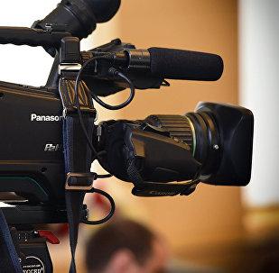 ჟურნალისტები პრესკონფერენციაზე