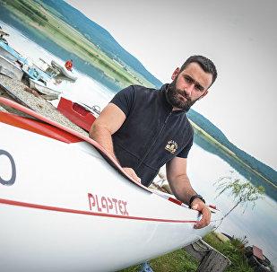 Заза Надирадзе и его лодка