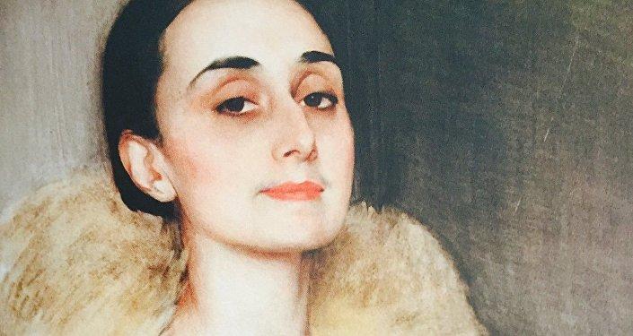 Мелита Чолокашвили. Портрет работы Сорина, Национальный музей Грузии