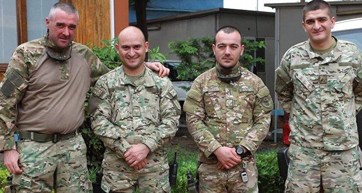Грузинские военные в ЦАР