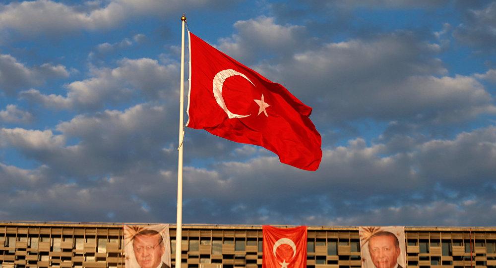Флвг Турции и портреты Эрдогана