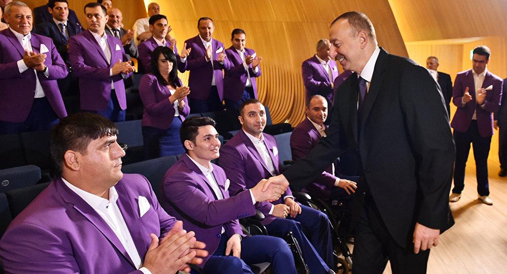 Церемония проводом азербайджанских спортсменов, участвующих в XXXI Олимпийских играх