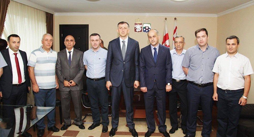 Зураб Патарадзе и члены кабинета министров АР Аджария