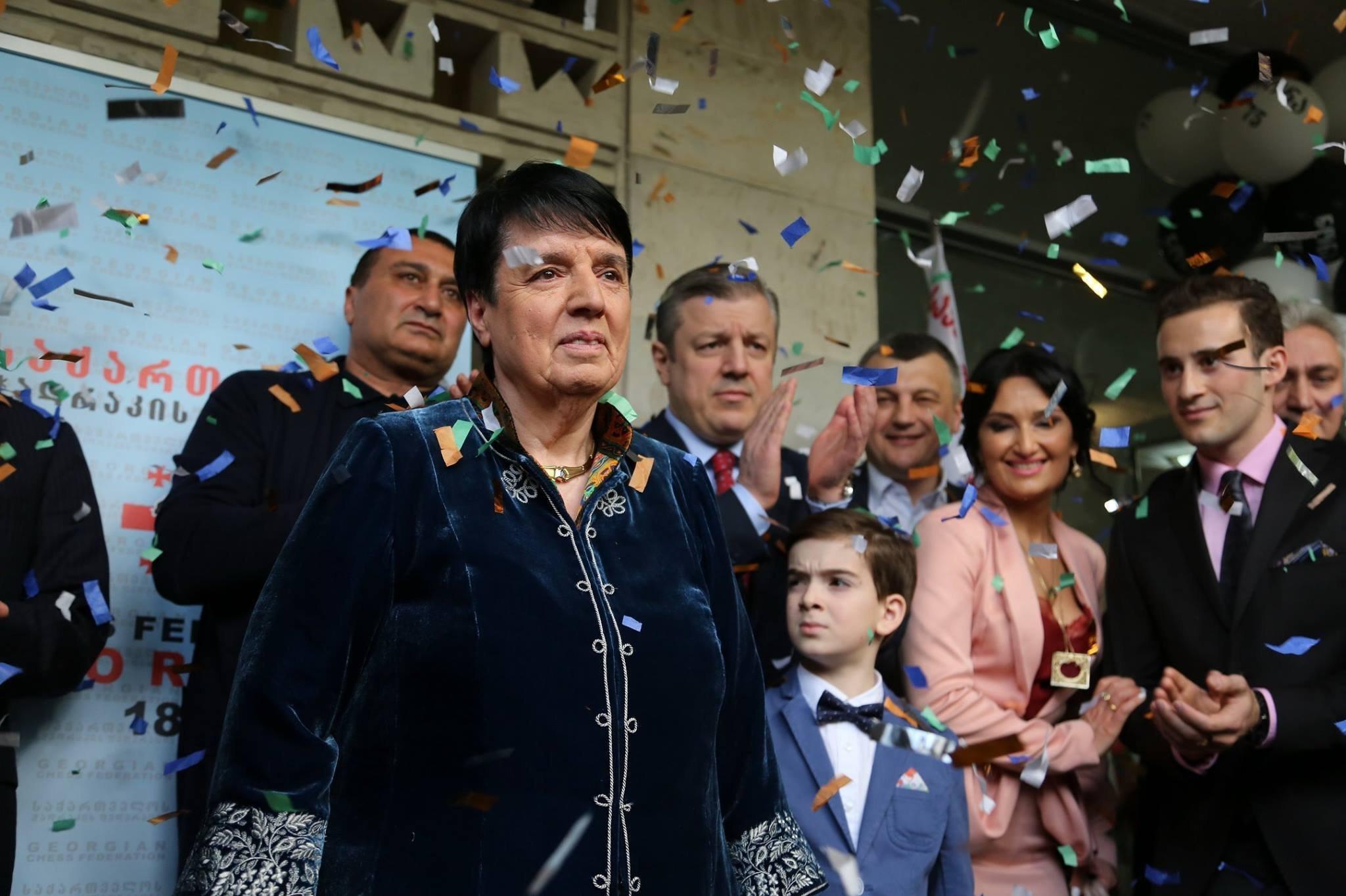 Пятикратная чемпионка мира по шахматам Нона Гаприндашвили