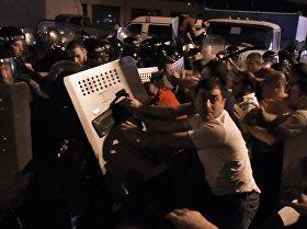 ერევანში პოლიციის შენობასთან ვითარება დაძაბულია