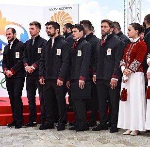 Официальная церемония проводов Олимпийской сборной Грузии