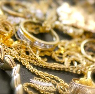 Золотые украшения. Архивное фото