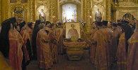 Ковчег с мощами святого Пантелеймона в Богоявленском соборе