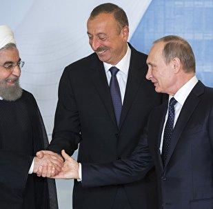 Трехсторонняя встреча в Центре Гейдара Алиева в Баку