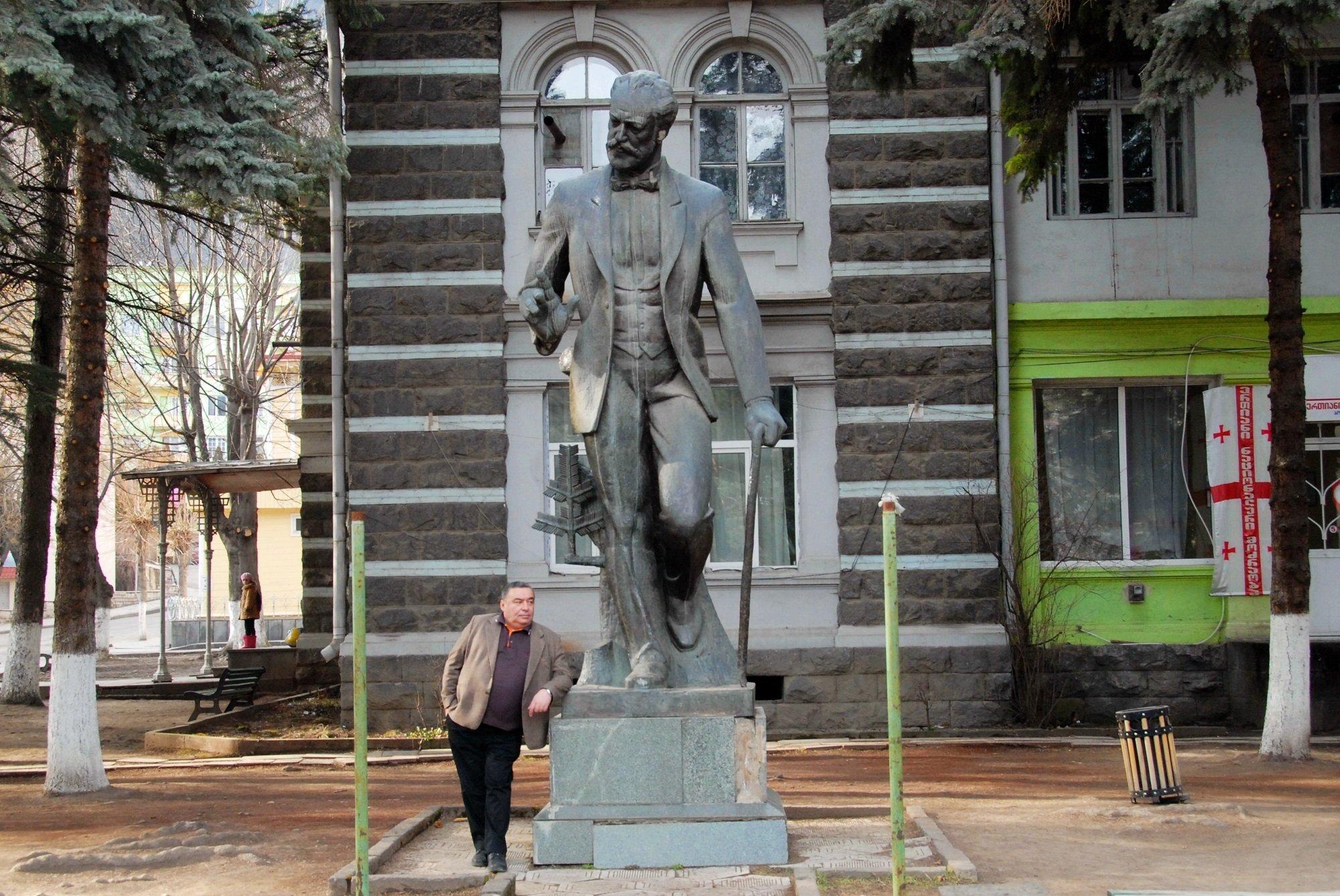 Памятник Петру Чайковскому в Боржоми. Автор - Тенгиз Гвиниашвили
