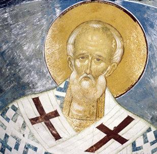 Фреска иконописца Дионисия Святитель Николай Мирликийский