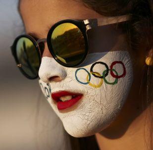 Болельщица на Олимпиаде в Рио-де-Жанейро