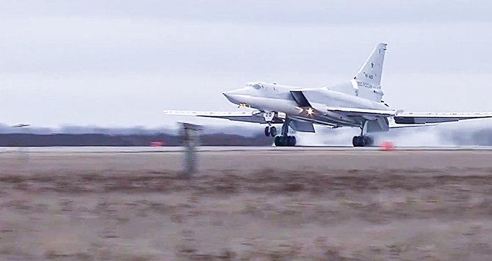 Боевой вылет дальних бомбардировщиков Ту-22 М3 по объектам террористов в Сирии