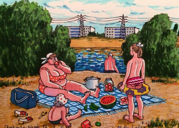 *На озере*. Автор: Zoya Cherkassky-Nnadi