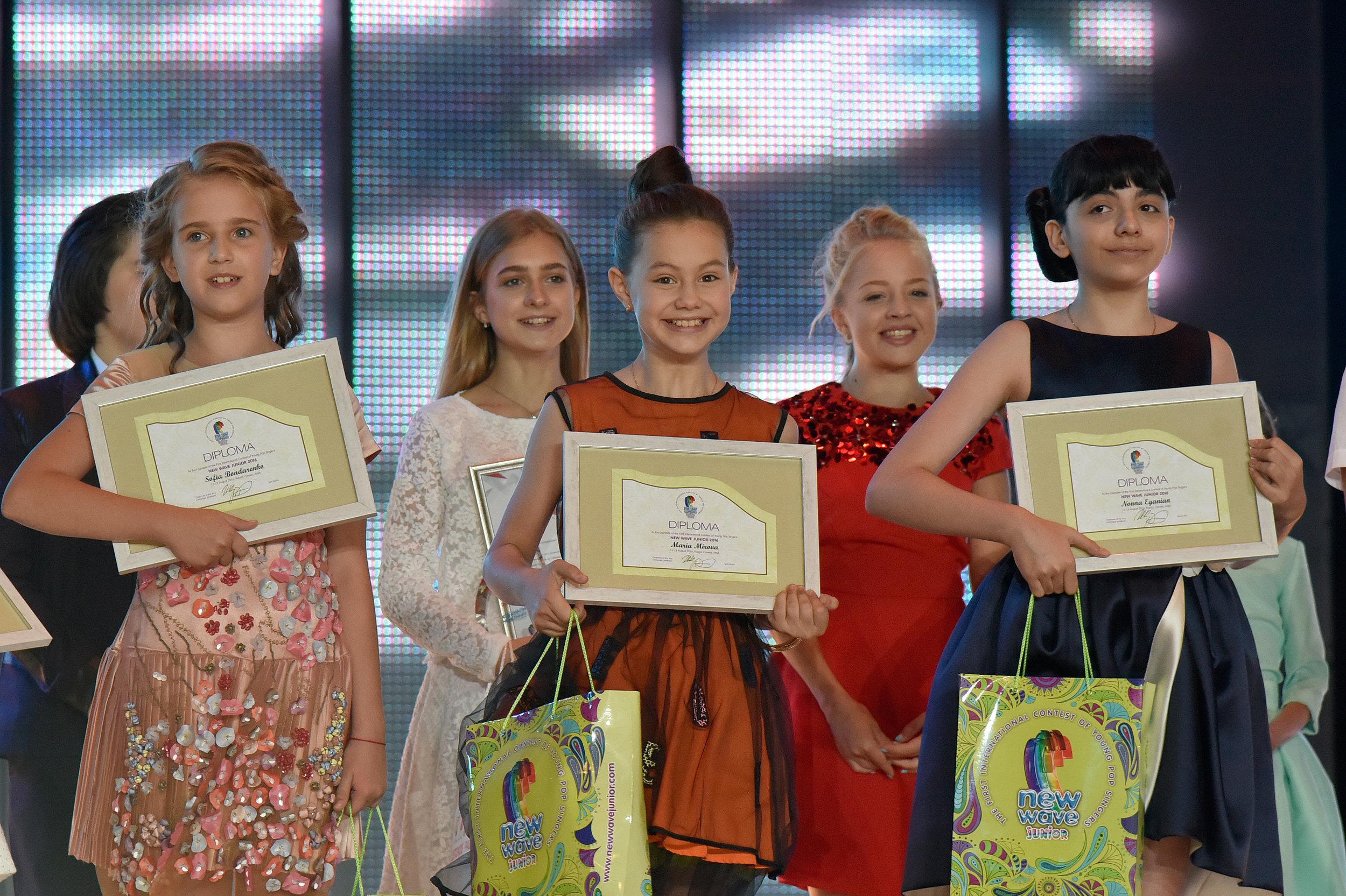 Победители детского конкурса новая волна