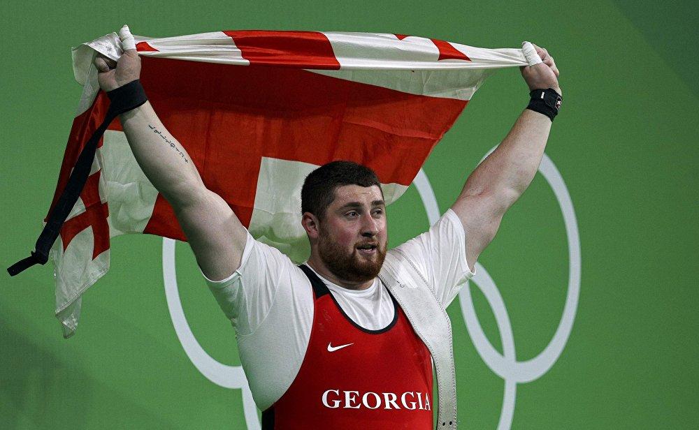 Лаша Талахадзе, ставший первым золотым призером Олимпийских игр в Рио-де-Жанейро в составе грузинской сборной.