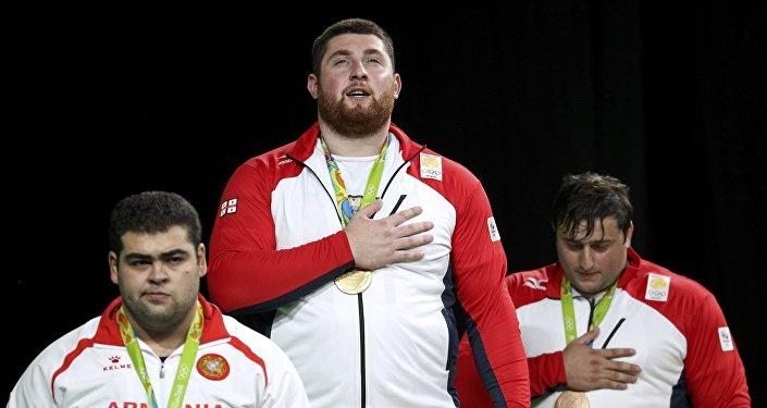 Тяжеловес из Грузии Лаша Талахадзе одержал победу на Олимпиаде в Рио