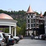 Один из современных отелей в центре Боржоми