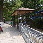 Набережная речки Боржомулы - туристический центр города Боржоми