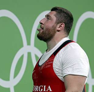 Лаша Талахадзе после победы на Олимпиаде в Рио
