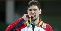 Борец Владимир Хинчегашвили, завоевавший золото на Олимпиаде в Рио
