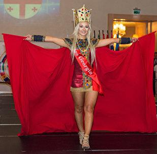 Финал конкурса красоты Miss Union Baku 2016. Участница из Грузии Майя Амашукели